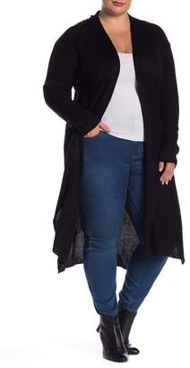 Derek Heart Lace Up Back Duster Sweater (Plus Size)