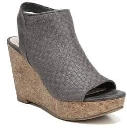 Fergalicious Rasta Basket Weave Wedge Sandals