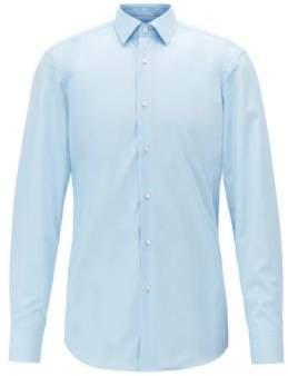BOSS Hugo Slim-fit shirt in easy-iron poplin contrast details 16 Light Blue