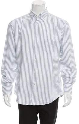 Brunello Cucinelli Striped Button-Up Shirt w/ Tags