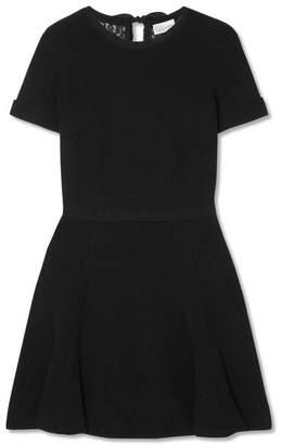 RED Valentino Lace-paneled Cotton Mini Dress - Black