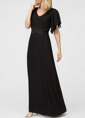 Jacques Vert Crepe Angel Sleeve Maxi Dress