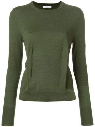 J.W.Anderson khaki crew-neck jumper with dart detailing