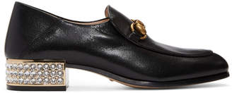 Gucci Black Mister Heeled Loafers