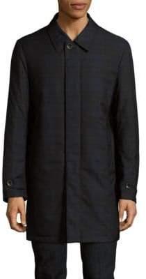 Canali Tartan Twilled Printed Raincoat