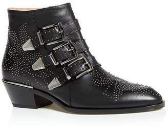 Chloé Women's Susanna Pointed-Toe Studded Booties