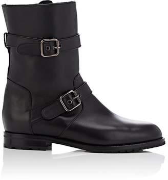 Manolo Blahnik Women's Sulaltra Leather Moto Boots