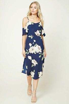 FOREVER 21+ Floral Open-Shoulder Midi Dress $22.90 thestylecure.com