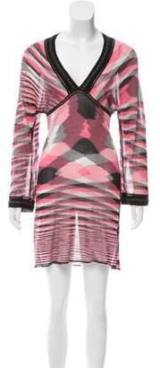 Missoni Mare Knit Long Sleeve Dress