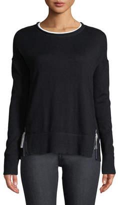 Lisa Todd Zipline Sweater w/ Side Zipper Detail