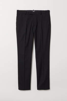 H&M Suit Pants Skinny fit - Black