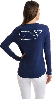 Vineyard Vines Long-Sleeve Slub Vintage Whale Tee