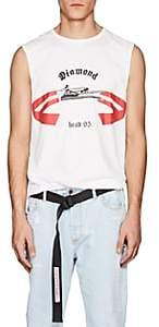"""Helmut Lang RE-EDITION Men's """"Diamond Head"""" Cotton Muscle T-Shirt-White"""