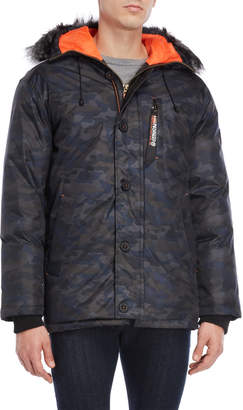 Geographical Norway Darwin Camo Hooded Coat