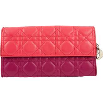 Christian Dior Pink Leather Clutch Bag
