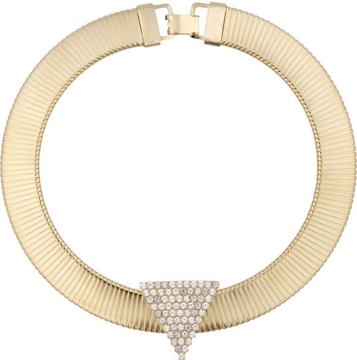 Janis Savitt Janis by 18-karat gold-plated Swarovski crystal necklace