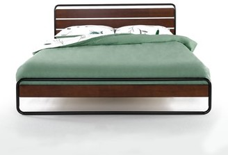 Zinus Horizon Metal & Wood Platform Bed with Wood Slat Support, Full