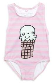 Stella McCartney Baby's Molly Striped Ice Cream Swimsuit