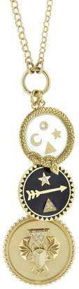 Foundrae Medium Protection, Petite Dream And Petite Wholeness Medallion Necklace