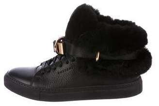 Buscemi Fur High-Top Sneakers