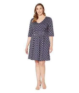 Junarose Plus Size Pena 3/4 Sleeve Above Knee Dress