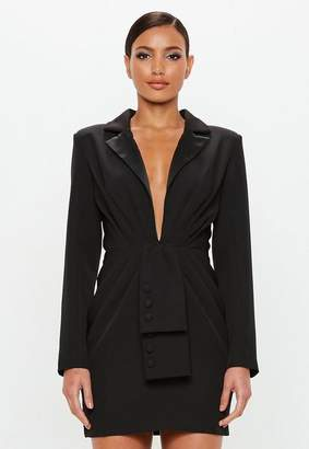 Missguided Black Tuxedo Blazer Dress