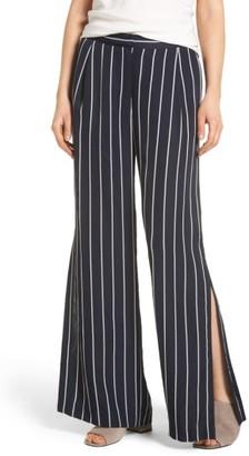 Trouve Women's Side Slit Wide Leg Pants
