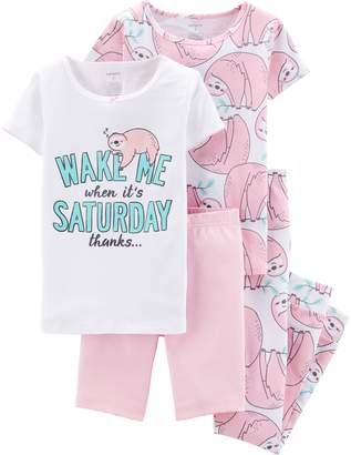 Carter's Girls 4-14 Tops, Shorts & Pants Pajama Set