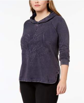 Style&Co. Style & Co Plus Size Cotton Embroidered Hoodie, Created for Macy's