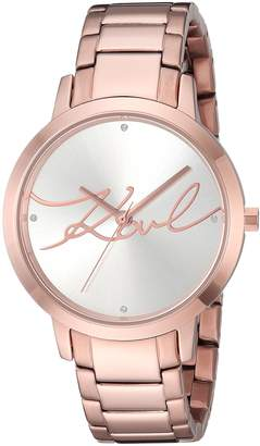 Karl Lagerfeld Women's 'Camille' Quartz Stainless Steel Casual Watch, Color:Rose Gold-Toned (Model: KL2237)