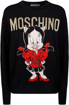 Moschino Petunia Pig Sweater
