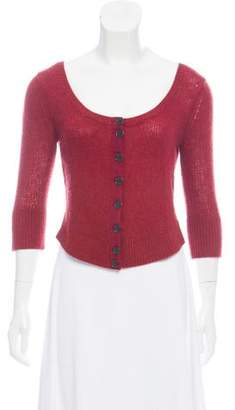 Marc Jacobs Wool-Cashmere Scoop Neck Cardigan