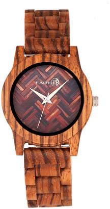 Earth Wood Crown Wood Bracelet Watch Olive 41Mm
