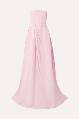 10783e03240 Alex Perry Valeria Strapless Gathered Silk-faille Gown - Pink