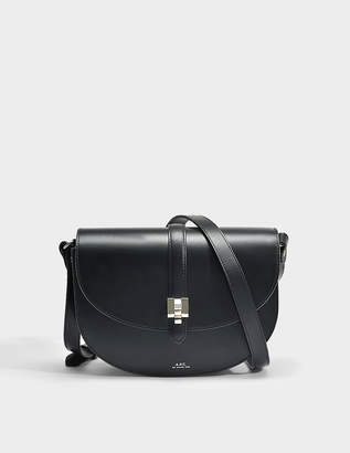 A.P.C. Isilde Bag in Black Smooth Shiny Leather