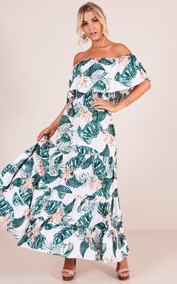 Showpo Tropic Vibes maxi dress in white floral