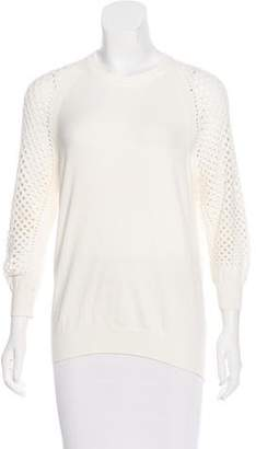 Marc by Marc Jacobs Open Knit Long Sleeve Sweater