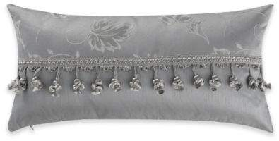 Samantha Throw Pillow in Platinum