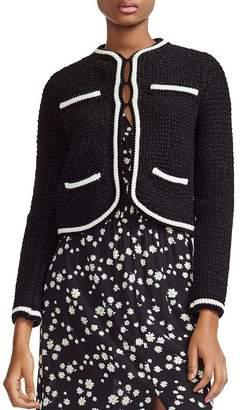 Maje Moniclou Tweed Cardigan