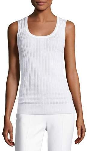 MissoniM Missoni Zigzag Knit Tank Top, White