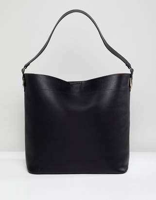 Asos Design DESIGN oversized structured shopper bag with contrast detail