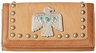 American West Guns And Roses Flap Wallet Wallet Handbags