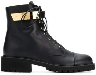 Giuseppe Zanotti Design metal hardware combat boots