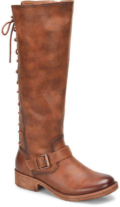 EuroSoft Womens Selden Lace Up Boots Stacked Heel Zip