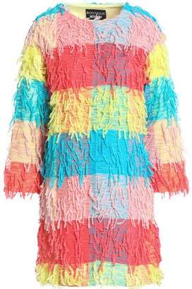 Moschino Fringed Color-Block Woven Jacket
