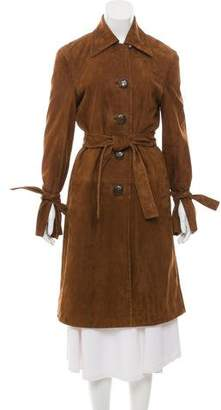 Brock Collection 2017 Caia Suede Trench Coat
