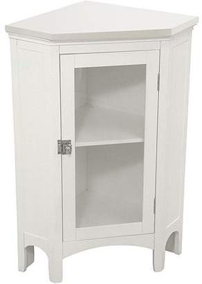 Elegant Home Fashions Classy Collection Corner Floor Cabinet. White