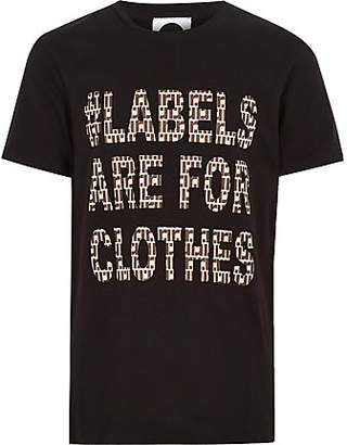 River Island Kids black Ditch the Label charity T-shirt