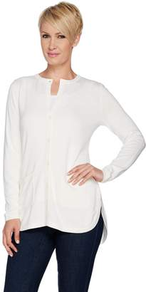 Isaac Mizrahi Live! Essentials Cardigan with Rounded Hem