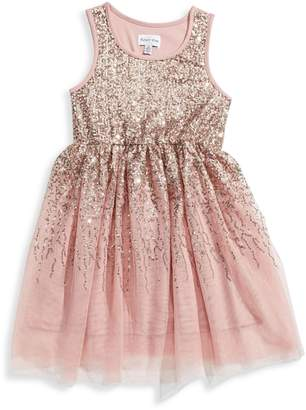 4ever Free Girl's Sequined Tulle Dress